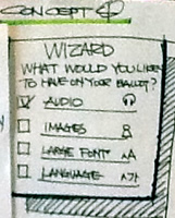 Wizard: What would you like to have on your ballot: audio, images, large font, language
