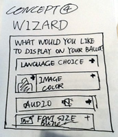 Wizard: What would you like to display on your ballot: language choice, image or color, audio, font size