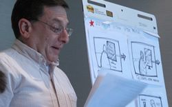 Steve Jacobs presents one of the design concepts