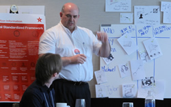 Don DeFord leading a discussion